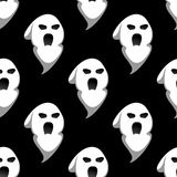Night ghost halloween seamless pattern Royalty Free Stock Photo