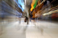 Night ghosts. People on a street at night Stock Photo