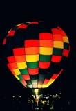 Night Glow 1. Hot Air Balloon at night, heating up Stock Image