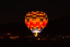 Night Glow. Chester County Hot Air Balloon Festival at Plantation Field, Unionville PA stock photos