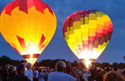 Night glow. Hot air balloon festival night glow Royalty Free Stock Photo