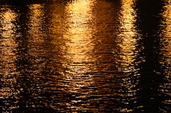 Night glow the surface of the water Stock Photography