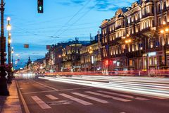 Night city Petersburg. Russia Stock Images