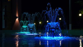 Night glowing fountain