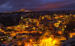Night Goreme Cappadocia Turkey Stock Photo