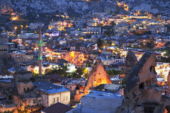 The night Goreme, landscape Cappadocia Stock Photo