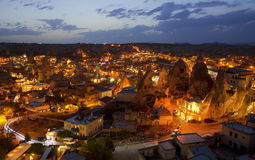 The night Goreme, landscape Cappadocia Royalty Free Stock Photography