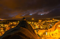 Night Goreme, landscape Cappadocia Stock Image