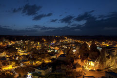 The night Goreme, landscape Cappadocia Royalty Free Stock Photo