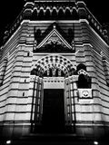 Night gothic monument in Pistoia royalty free stock photos