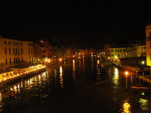 Night in the Grand Canal in Venice Stock Photos