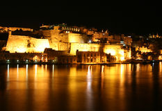 Night Grand Harbour Royalty Free Stock Image