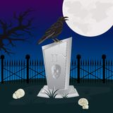 Night on graveyard Royalty Free Stock Photos