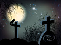 Night at Graveyard Royalty Free Stock Photo
