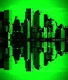 Night green vision new york downtown, nyc Stock Photos
