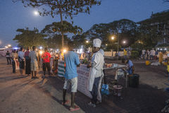 Night grill at Stone Town Zanzibar stock photos