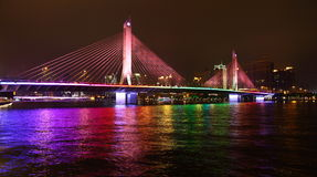 The night of Haeinsa Bridge Royalty Free Stock Photos