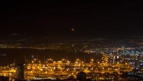 Moon over Haifa. royalty free stock photos
