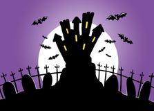 Night of halloween stock image