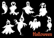 Night halloween ghosts set Stock Photo