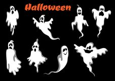 Night halloween ghosts set Stock Photos