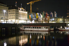 Night Hamburg Stock Image