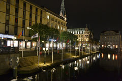 Night Hamburg Stock Images