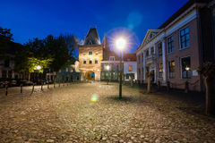 Night in the Hanseatic city of Kampen Stock Photography