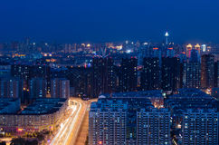 The Night of Harbin Stock Image
