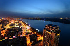 The Night of Harbin Stock Image