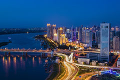 The Night of Harbin Royalty Free Stock Photography