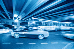 Night heavy traffic Stock Images