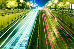 Night heavy traffic  Stock Photos