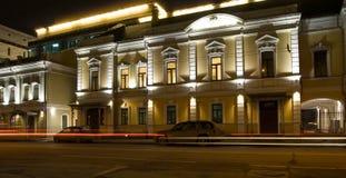 Night highlighting street Royalty Free Stock Image