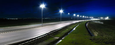 Night highway Royalty Free Stock Image