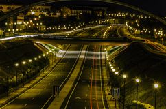 Night highway Stock Image