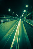 Night highway Royalty Free Stock Photo