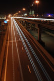 Night highway. In Moscow (Third transport ring stock images
