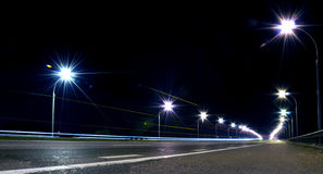 Night highway Stock Photography