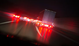 Night highway bad weather background Stock Photography
