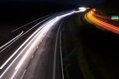 Night highway. Highway at night lighting Car Stock Photos