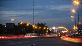 Night highway motion Stock Image