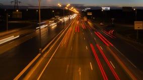 Night highway motion Royalty Free Stock Photo