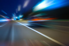 Night highway Stock Images