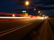 Night highway Spain royalty free stock photo