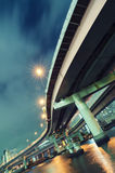 Night highway in Tokyo Stock Photography