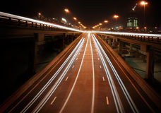 Night highway with viaducts Stock Photos