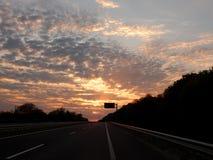 Night highway Royalty Free Stock Image