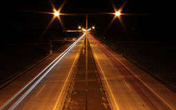 Night higway Royalty Free Stock Image