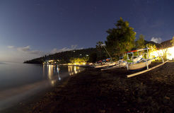 Night holiday beach Royalty Free Stock Image
